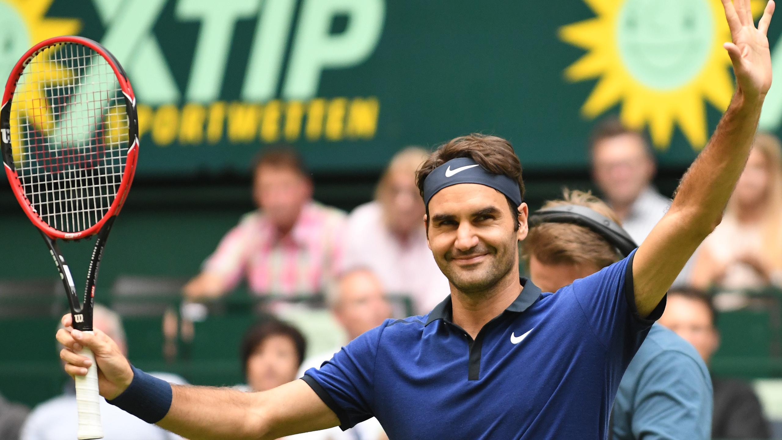 Roger Federer, vainqueur crispé à Halle