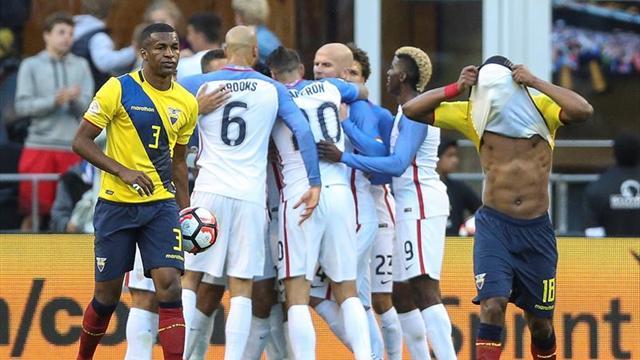 Dempsey acaba con el sueño de Ecuador y mete a Estados Unidos en semifinales (2-1)