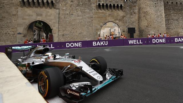 Hamilton tiene la pole y le mete presión a Vettel en Bakú
