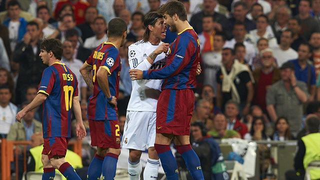 Piqué y Ramos le ponen la salsa al Clásico fuera del campo