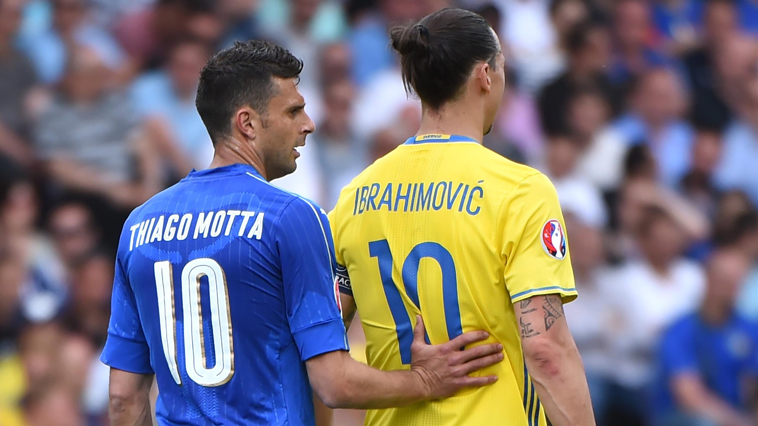 Motta Ibrahimovic - Italy v Sweden - Euro 2016