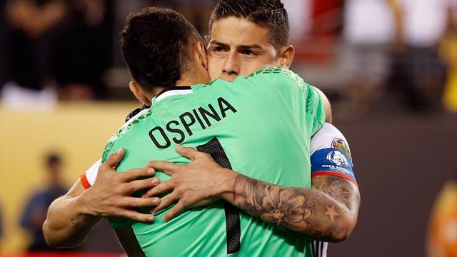 Ospina mete a Colombia en semis tras su actuación ante Perú en los penaltis (0-0, 2-4)