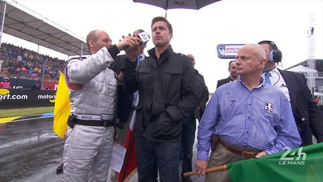 Brad Pitt a donné le départ d'une course lancée au ralenti