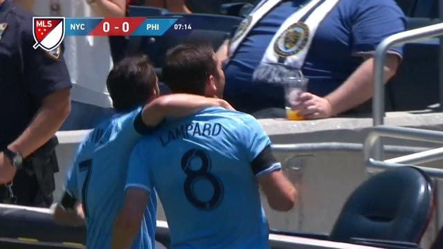 Pour sa première comme titulaire, Lampard n'a mis que sept minutes pour ouvrir son compteur
