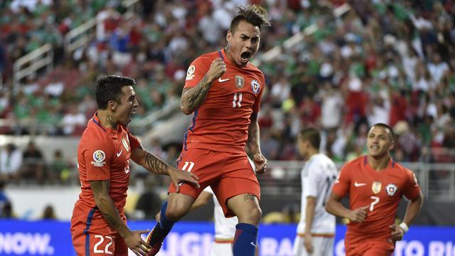 Vargas s'offre un quadruplé et le Chili humilie le Mexique