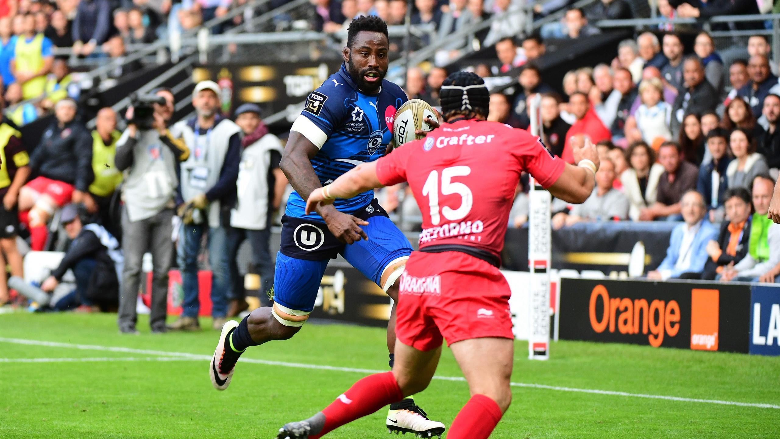 Fulgence Ouedraogo (Montpellier) face à Toulon - 18 juin 2016