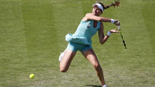 Konta beats Makarova to make Eastbourne semi-finals