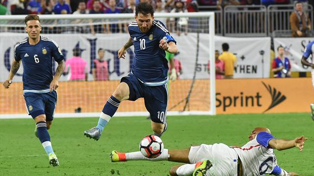 VIDEO: Messi scores incredible free-kick as Argentina crush USA