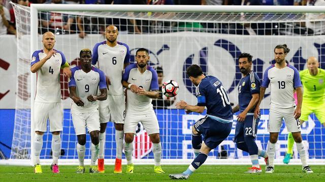 D'une mine en pleine lucarne, Lionel Messi est devenu le meilleur buteur de l'Argentine