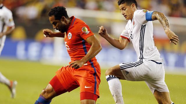 Colombia-Chile: James se queda sin final y Chile será el rival de Argentina (0-2)