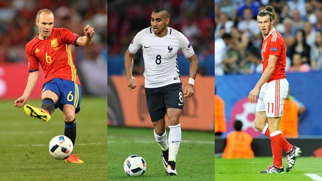 Payet, Bale, Iniesta : L'équipe-type du premier tour