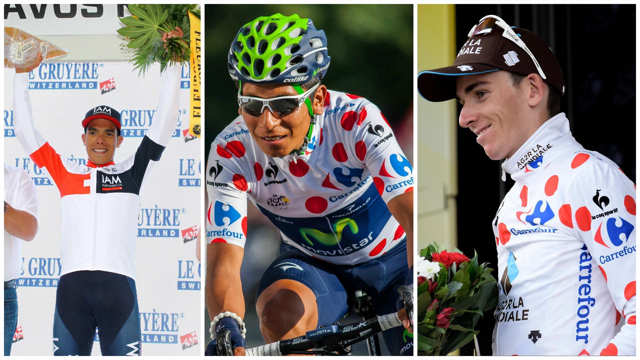 Pantano (IAM), Quintana (Movistar) et Bardet (AG2R La Mondiale)