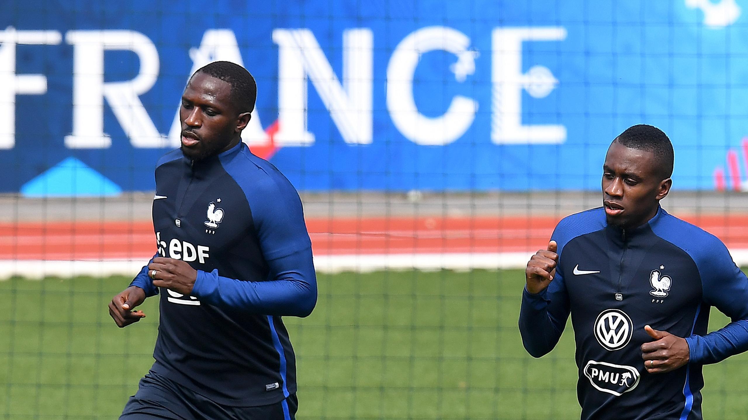 Moussa Sissoko et Blaise Matuidi à l'entrainement à Clairefontaine