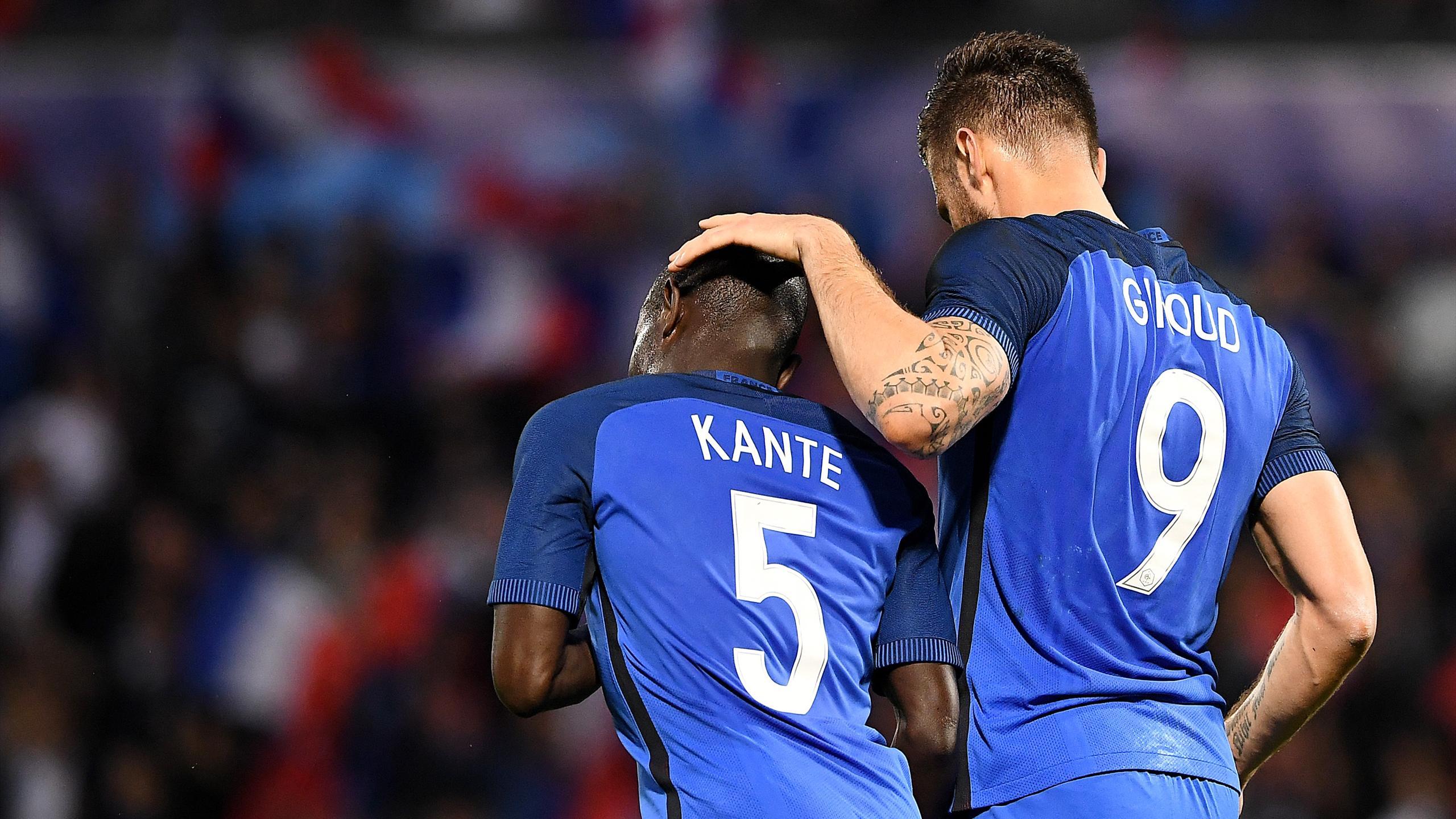 Olivier Giroud et N'Golo Kanté