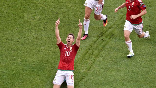 УЕФА признал гол венгра Геры лучшим на Евро-2016
