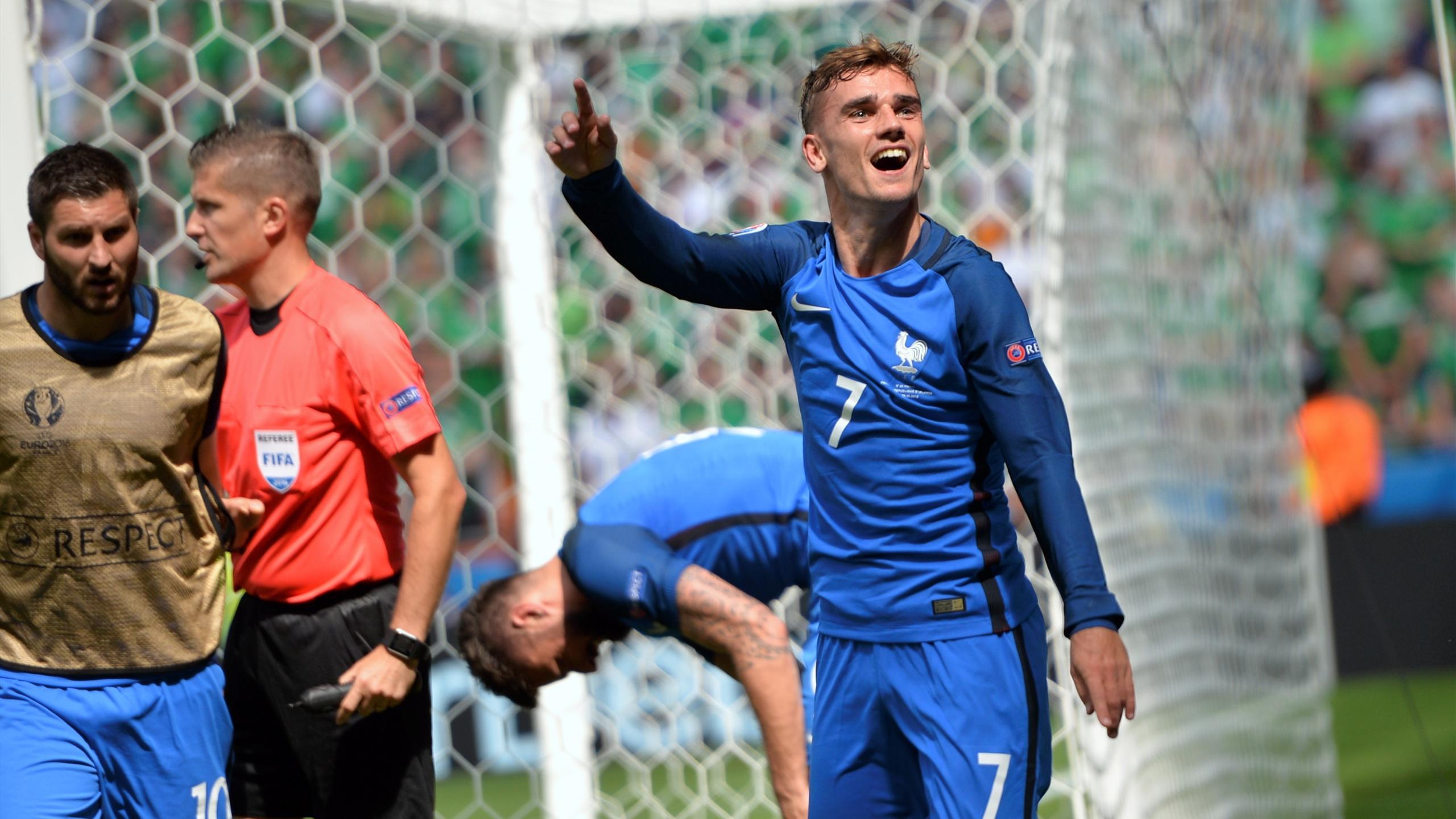 Antoine Griezmann (France), auteur d'un doublé face à l'Irlande lors de l'Euro 2016