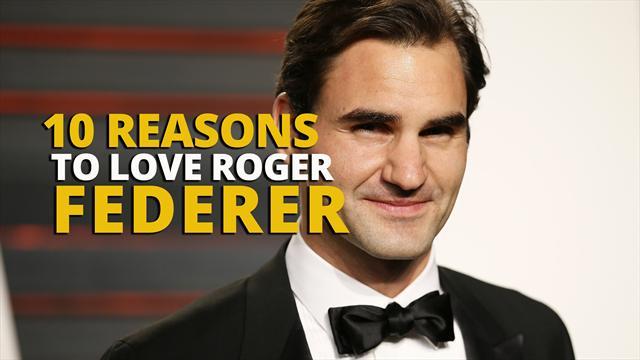 10 reasons to love Roger Federer