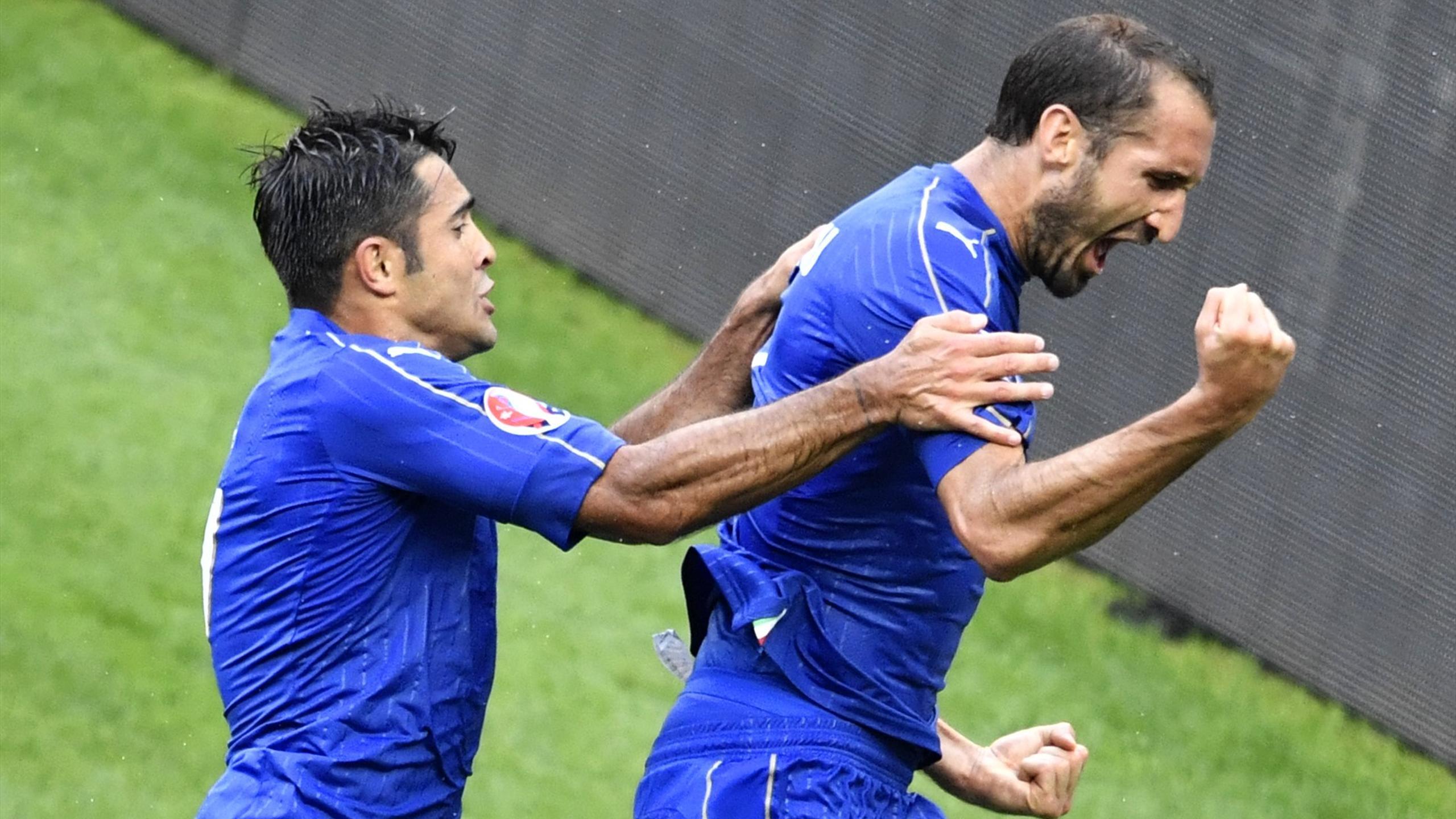 Eder Chiellini - Italy v Spain - Euro 2016
