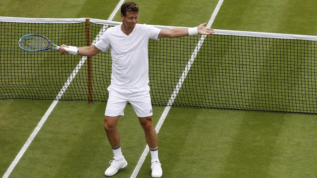 Round-up: Berdych battles to four-set win at rain-hit Wimbledon, Thiem takes sweet revenge