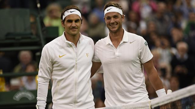 PHOTOS: Britain's Willis wears Federer shirt to face Federer