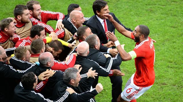 Le coup de tête de Williams a remis le Pays de Galles à hauteur de la Belgique