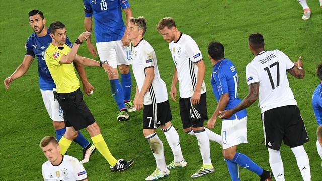 La main grossière de Boateng qui a amené le penalty et relancé l'Italie