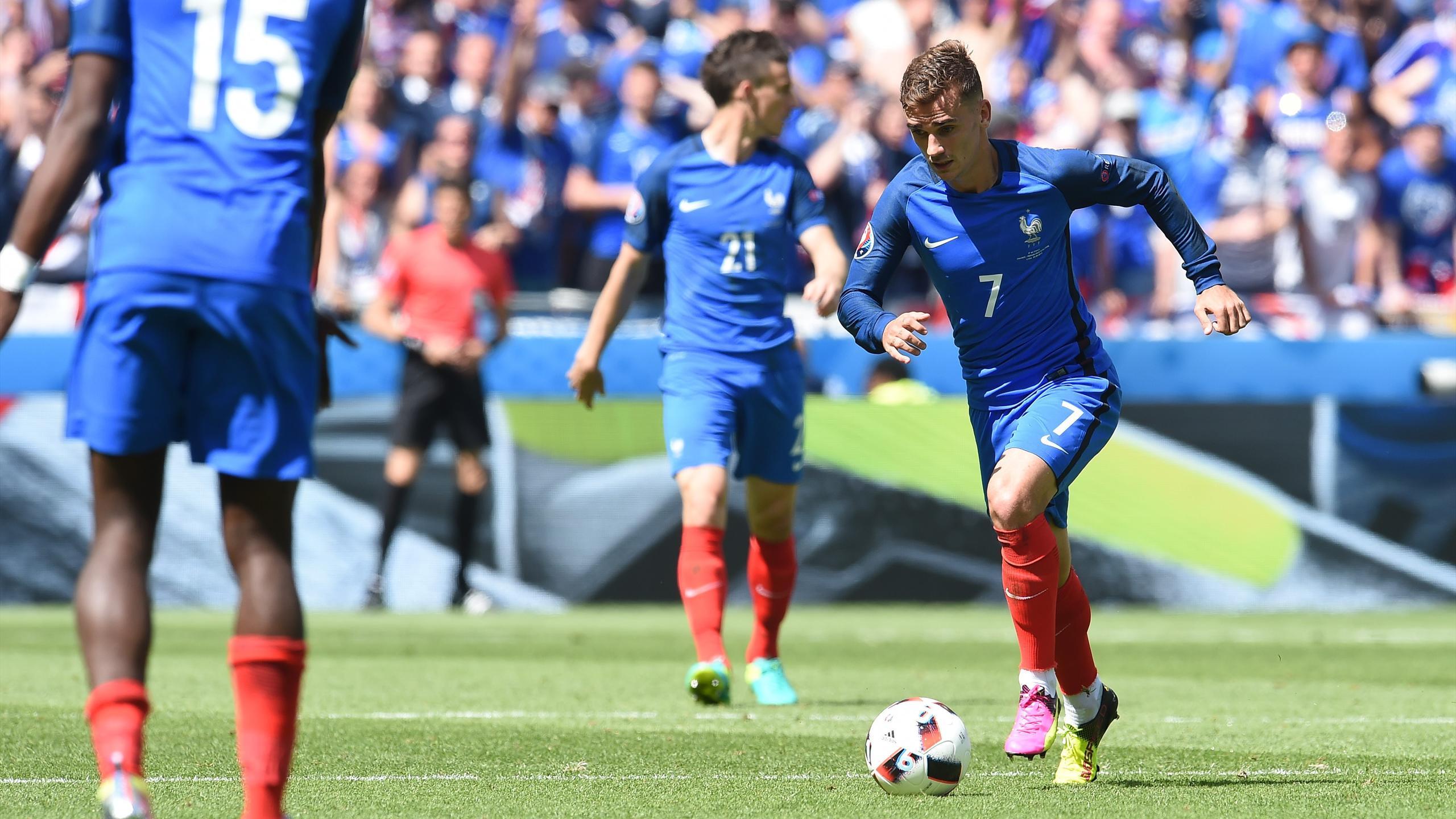 Antoine Griezmann (France) face à l'Irlande