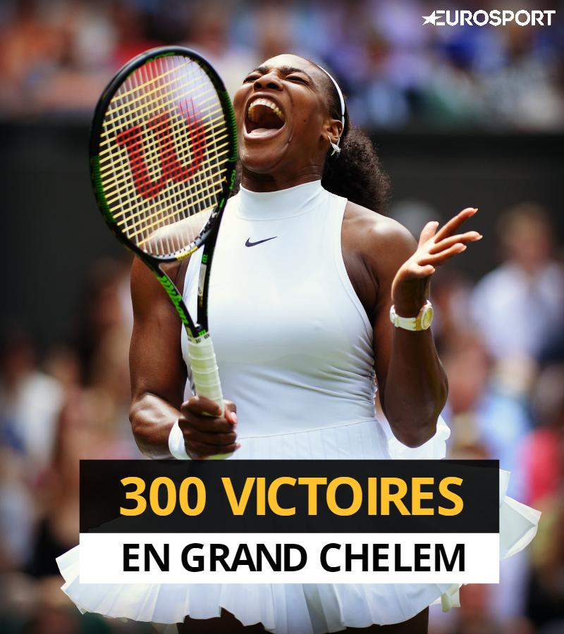 Serena Williams compte désormais 300 victoires en Grand Chelem.