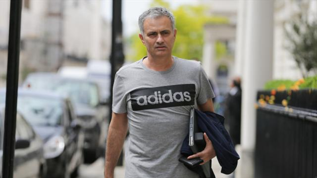Jose Mourinho arrives at Carrington to start work as Manchester United manager