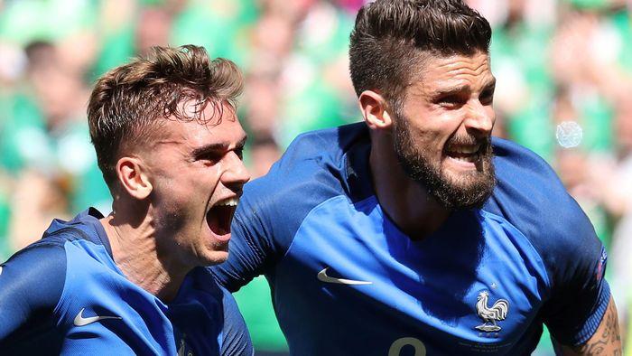 Em 2016 Deutschland Gegen Frankreich Griezmann Giroud Und Payet