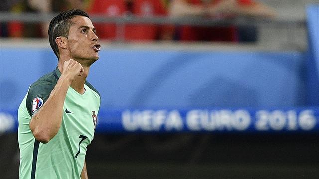 D'une tête puissante, Cristiano Ronaldo a mis le Portugal sur orbite et rejoint Michel Platini