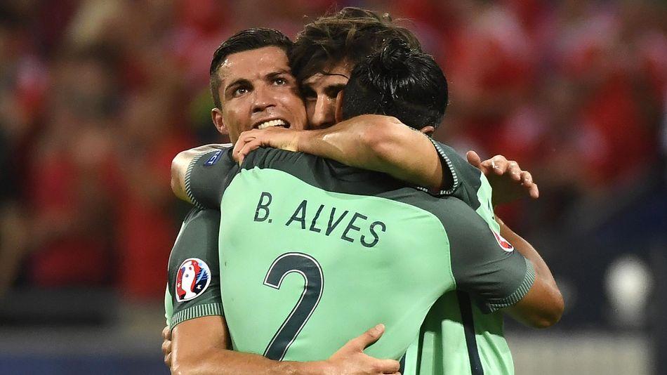 Cristiano Ronaldo et le Portugal à la fête
