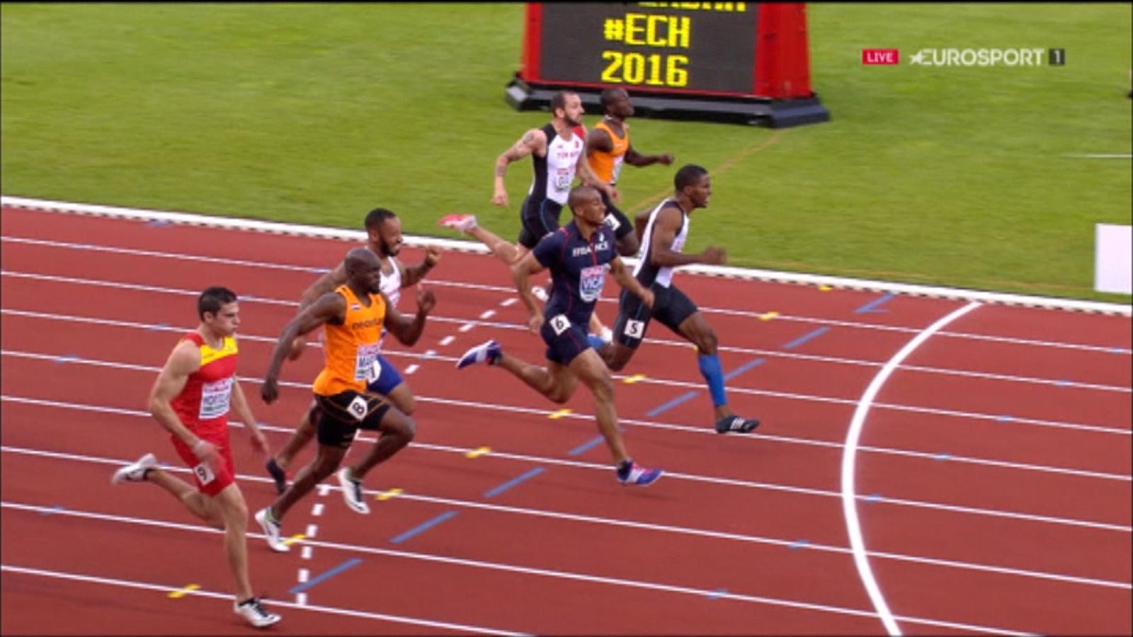 VIDEO - Churandy Martina takes 100m glory after photo finish - European Championships - Video ...