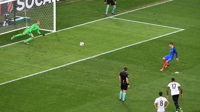 Après la main de Schweini, Griezmann n'a pas tremblé sur penalty : l'ouverture du score des Bleus