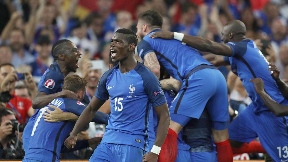 La joie de Paul Pogba lors de France-Allemagne