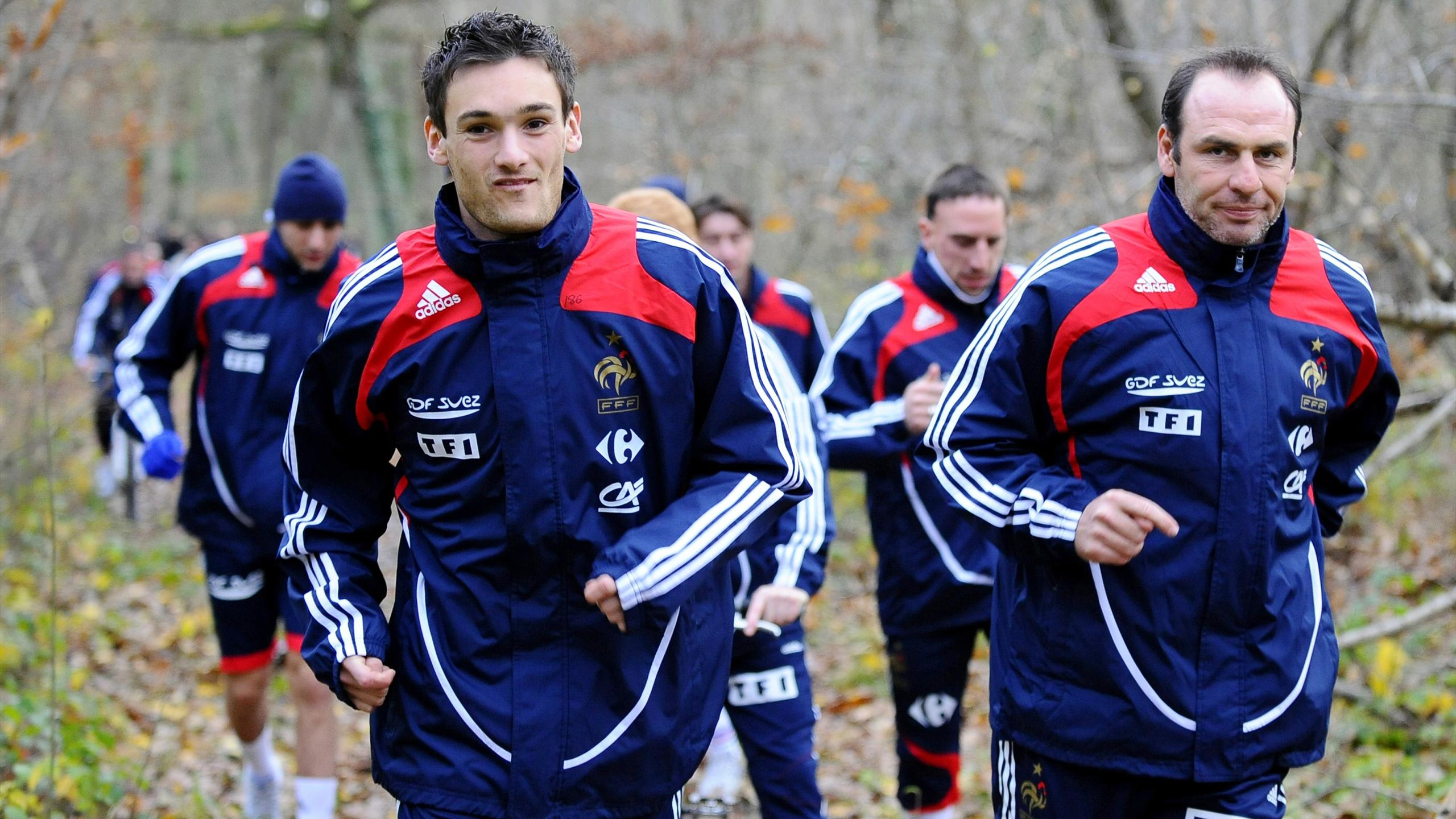 Hugo Lloris lors de son premier rassemblement en équipe de France