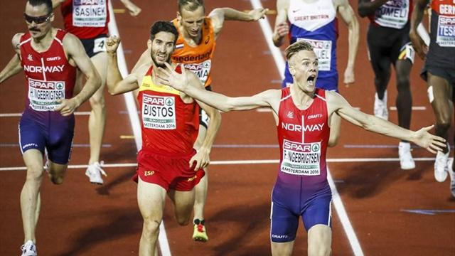 Europeos de Amsterdam 2016: David Bustos, plata en 1.500 metros