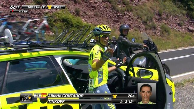 Трагичное видео, в котором Контадор показывает большой палец и снимается с «Тур де Франс»