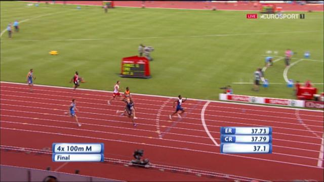 Britain storms to European glory in 4x100m relay