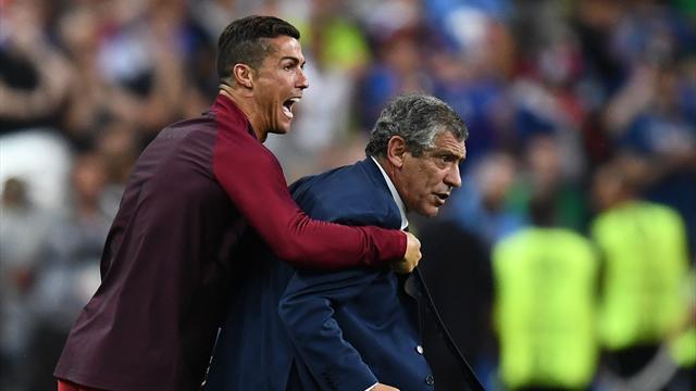 Pendant la prolongation, Ronaldo était déchaîné au bord du terrain
