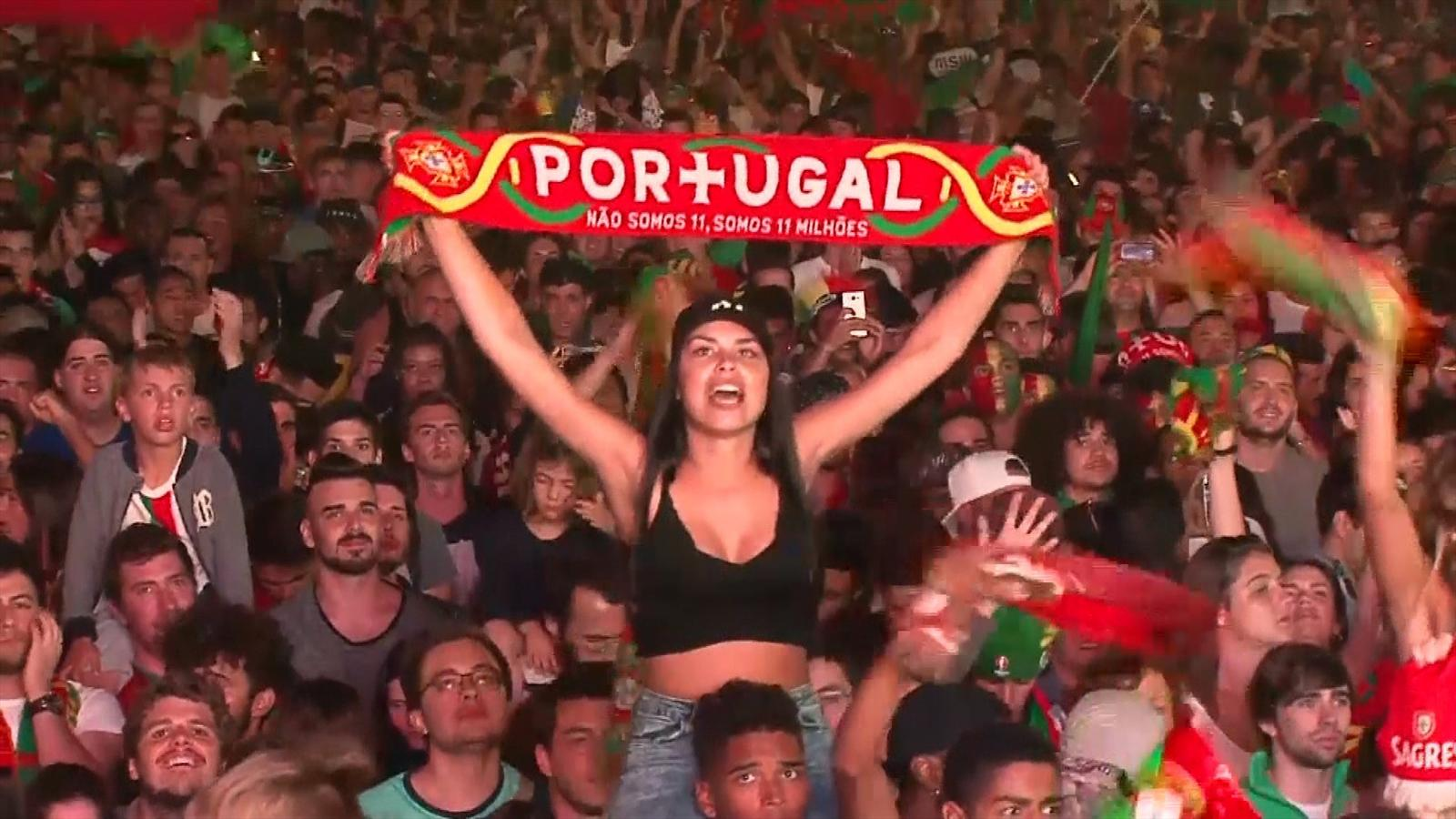 VIDEO - Portugal fans celebrate in Lisbon, managers chew over epic final - Euro 2016 - Video ...