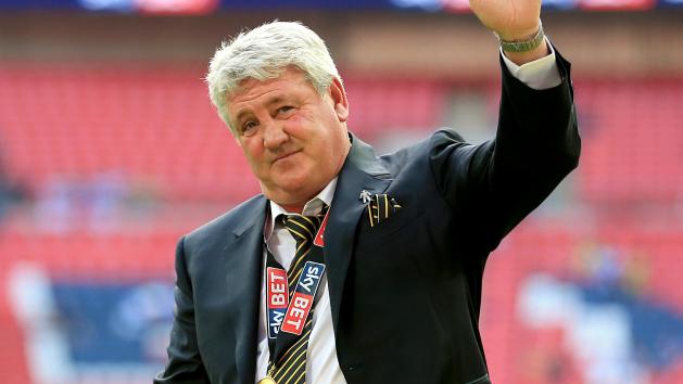 Steve Bruce led Hull back to the Premier League last season