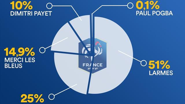 0,1% de Pogba pour les Bleus, 25% de Ronaldo manager pour le Portugal : 13 équipes déchiffrées