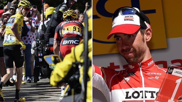 Tour-Drama am Ventoux: Froome bleibt nach Motorrad-Crash in Gelb - de Gendt siegt