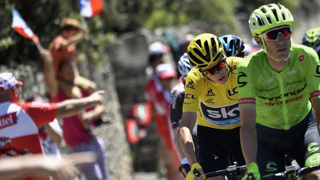 Судьи вернули Фруму желтую майку лидера после аварии на 12-м этапе