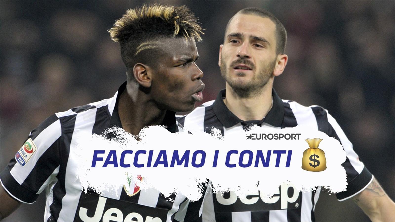 Facciamo i conti: la Juventus può far mercato anche senza vendere Bonucci o Pogba