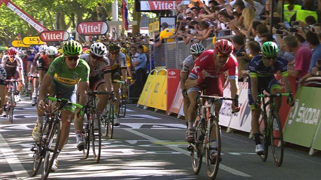 Победа Сагана, которую он вырвал на последних миллиметрах дистанции
