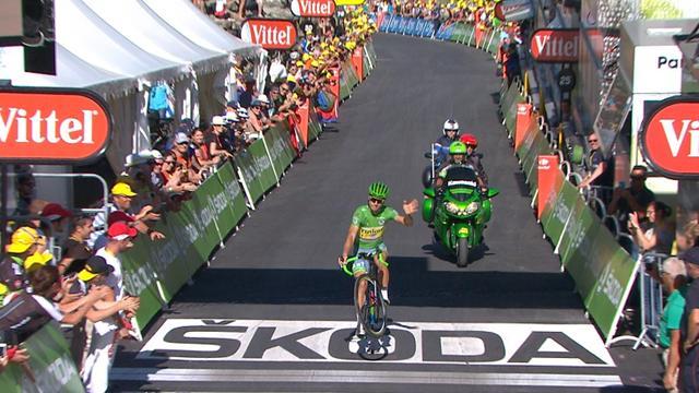 Саган исполнил цирковой номер на финише 17-го этапа «Тур де Франс»