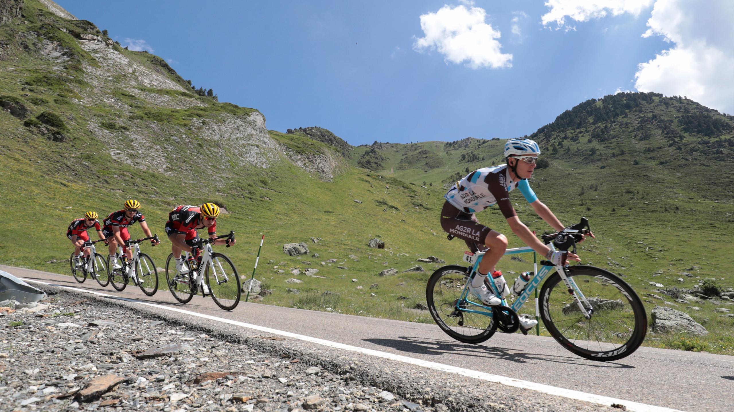 Romain Bardet ( Ag2r - La Mondiale) lors de la 9e étape du Tour de France 2016 (Vielha Val d'Aran - Andorre Arcalis)