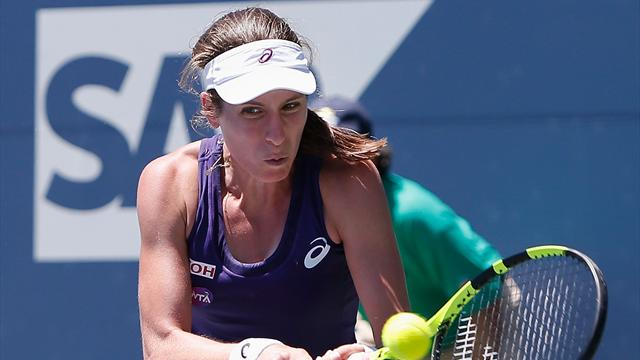 Konta reaches last four in California after battling past Zheng